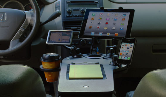 Custom Car Mobile Office | Vehicle Workstation - JourniDock